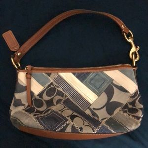 Authentic Coach patchwork small purse